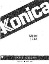 Buy Konica 1212 PARTS Service Schematics by download #135459