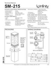 Buy INFINITY SM215 TS Service Manual by download #147827
