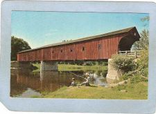 Buy CAN Kitchener Covered Bridge Postcard West Montrose Bridge Ontario World G~18