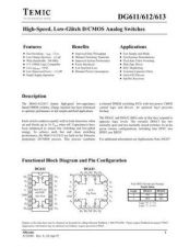 Buy INTEGRATED CIRCUIT DATA DG611 3J Manual by download Mauritron #186811