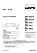 Buy Sanyo VHR-277E Manual by download #177413