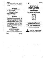 Buy Amprobe AM-220-240 User Instructions Operating Guide by download Mauritron #194
