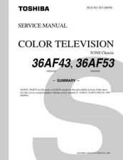 Buy TOSHIBA 36AF43 36AF53 SUMMARY Service Schematics by download #159940