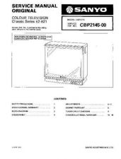 Buy SANYO CBP2145 COLOUR TV SERVICE MANUAL CDC-1409 by download #157398