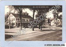 Buy CT Eastford Gen Lyon Inn Street Scene w/Old Car Photo Type Card ct_box2~617
