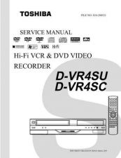 Buy TOSHIBA DVR4SU SC SVM Service Schematics by download #160101