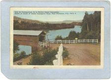 Buy CAN New Richmond Covered Bridge Postcard Scene At Mouth Of Grand Cascapedi~1035