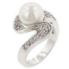 Buy White Pearl Fashion Ring (size: 08)
