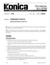 Buy Konica 03 FIRMWARE UPDATES Service Schematics by download #135837