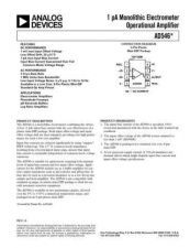 Buy INTEGRATED CIRCUIT DATA AD546J Manual by download Mauritron #186263