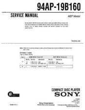 Buy SONY 94AP-19B160 Service Manual by download #166213
