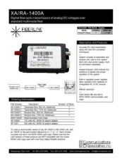 Buy COMMUNICATIONS SPECIALITIES INC SS-XARA1400A by download #120080