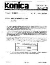 Buy Konica 09 PFU GEAR BREAKAGE Service Schematics by download #135930
