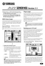 Buy Yamaha AW2816E3 Operating Guide by download Mauritron #204398