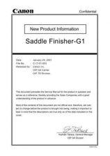 Buy Canon SADDLEFINISHER-G1_TSNPI Service Schematics by download #135262