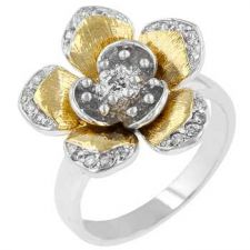 Buy Floral Cocktail Ring (size: 06)
