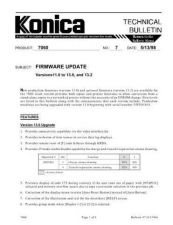 Buy Konica 07 FIRMWARE UPDATE Service Schematics by download #135901