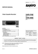 Buy Sanyo Service Manual For VHR-278E Manual by download #176163