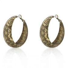 Buy Floral Baroque Hoop Earrings