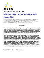 Buy Konica OBJECTIFLUNE Service Schematics by download #136455