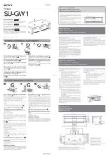 Buy SONY SU-GW1 OPERATING GUIDE by download #167206
