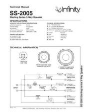 Buy INFINITY SS2005 TS Service Manual by download #151556