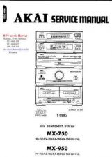 Buy AKAI MX750 MX950 TP750 EA750 PA750 PA950 HX750 HX950 CD750 by download #125343