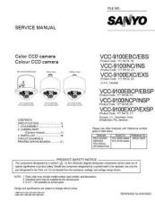 Buy Sanyo Service Manual For VCC-9100P Manual by download #176107