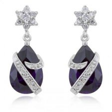 Buy Royal Wrapped Amethyst Earrings