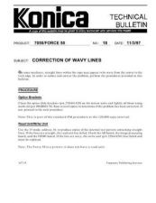 Buy Konica 18 CORRECTION OF WAVY LINES Service Schematics by download #136018