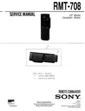 Buy SONY RMT-708 Service Manual by download #167163