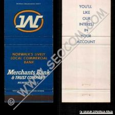 Buy CT Norwalk Matchcover Merchants Bank & Trust Company ct_box4~2221