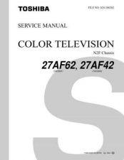 Buy TOSHIBA 27AF62 27AF42SVCMAN Service Schematics by download #159814