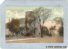 Buy CT Meriden Postcard First Congregational Church & Colony Street North Stre~1276