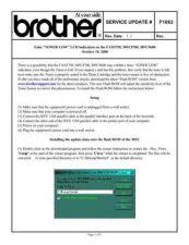 Buy Brother SU_F1063 Service Schematics by download #135072