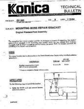 Buy Konica 09 MOUNTING BOSS REPAIR BRA Service Schematics by download #135929
