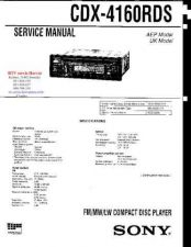 Buy MODEL SONY CDX4160RDS Service Information by download #124533