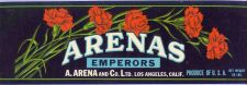 Buy CA Los Angeles Fruit Crate Label Arenas A. Arena and Company ~2