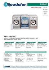 Buy ROADSTAR HIF-8507RC by download #128187