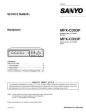 Buy Sanyo MPX-CD16P CORRECTION Manual by download #174617
