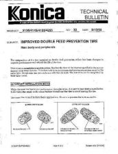 Buy Konica 33 IMPROVED DOUBLE FEED PRE Service Schematics by download #136122