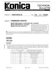 Buy Konica 17A FIRMWARE UPDATE Service Schematics by download #136017