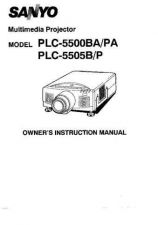 Buy Sanyo PLC-500MB Operating Guide by download #169481