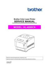 Buy Brother SM HL4000CN Service Schematics by download #134874