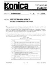 Buy Konica 23 SERVICE MANUAL UPDATE Service Schematics by download #136054