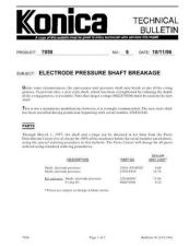 Buy Konica 06 ELECTRODE PRESSURE SHAFT Service Schematics by download #135884