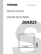 Buy TOSHIBA 20AS23 SVCMAN Service Manual by download #167343
