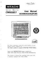 Buy Sanyo CM600ET DE Manual by download #173477