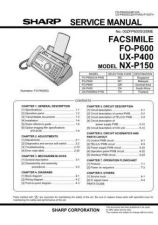Buy Sharp 352 UX-P400TH NX-P150 P1-50 Manual by download #178345