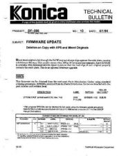 Buy Konica 10 FIRMWARE UPDATE Service Schematics by download #135936